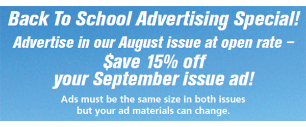 Back to School Advertising Special